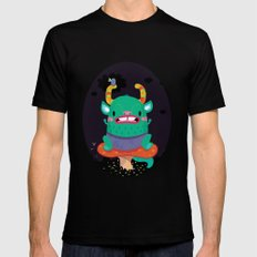 Monster of the night Mens Fitted Tee MEDIUM Black