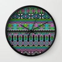 aztec Wall Clocks featuring Aztec by Fimbis