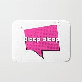 Bleep Bloop Robot Speech Bubble Design Bath Mat