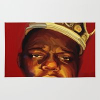 biggie smalls Area & Throw Rugs featuring biggie by Cree.8