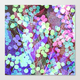 Dots & Leaves. Canvas Print