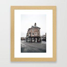 Book shop in Buxton Framed Art Print