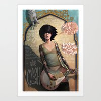 rock Art Prints featuring Rock the Casbah by Rudy Faber