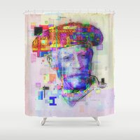 picasso Shower Curtains featuring Pablo Picasso by Steve W Schwartz Art