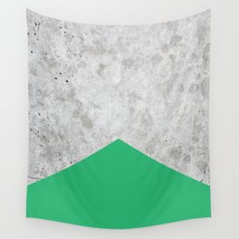 Concrete Arrow Green #175 Wall Tapestry