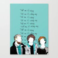 paramore Canvas Prints featuring Tell me it's okay by Marconte