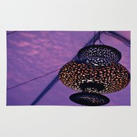 lantern Area & Throw Rugs featuring Festive Lantern  by Caitlin Swindell