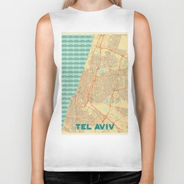 Tel Aviv Map Retro Biker Tank