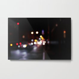 Bubbles of Light in the Night, A Metal Print