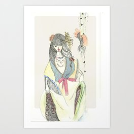 Nostalgic Geisha Art Print