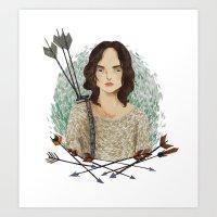 allison argent Art Prints featuring Allison Argent by amanda herzman