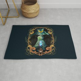 Raven Moon Oracle With Crystal Pendulum Rug