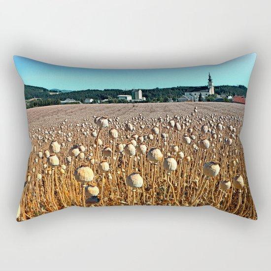 Poppy fields with a sunburn Rectangular Pillow