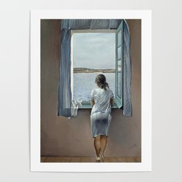 Salvador Dali Young Woman at a Window 1925 Artwork for Wall Art, Prints, Posters, Tshirts, Mwn, Women, Youth Poster