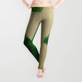Cala Lily On Abstract Background Leggings
