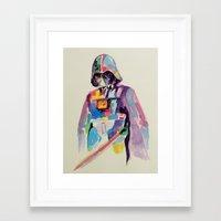 vader Framed Art Prints featuring vader by kuri