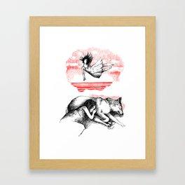 Fall into sleep Framed Art Print