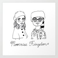 cactei Art Prints featuring Moonrise Kingdom by ☿ cactei ☿