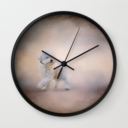 On the Go - Bichon Frise Wall Clock