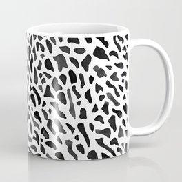 Fan Coral Pattern - Black Coffee Mug