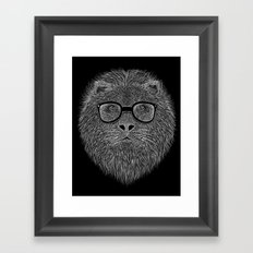 WHITE LION Framed Art Print