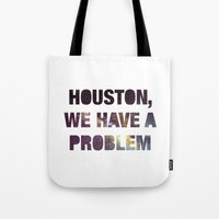 apollo Tote Bags featuring Apollo 13 by Text Guy