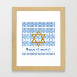 Happy Chanukah! Framed Art Print
