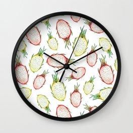 Pitaya. Watercolor Wall Clock