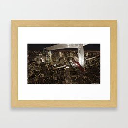 Fly me to New York Framed Art Print