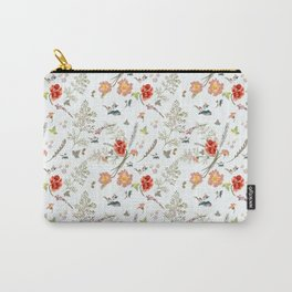 Spring field pattern with poppy and cosmos flowers Carry-All Pouch