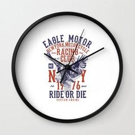 Eagle Motor Wall Clock