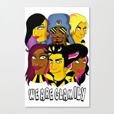 WE ARE GLAMILY (the Simpsons version) Canvas Print