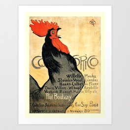 Cocorico Vintage French Poster Art Print