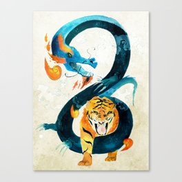 Dragon & Tiger Canvas Print