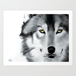 Stare Down Art Print