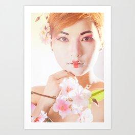 Geisha In Sunlight Art Print