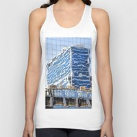 buildings Tank Tops featuring Twisted Buildings by davehare
