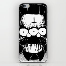 Black Metal Religious Guy iPhone Skin