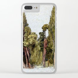 Samuel Palmer Cypresses in Tivoli Clear iPhone Case
