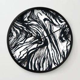 Marbled Black Wall Clock