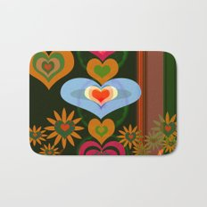 LOVE AND PEACE FLORAL PATERN Bath Mat