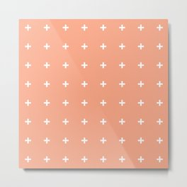 Peach Cross // Peach Plus Metal Print