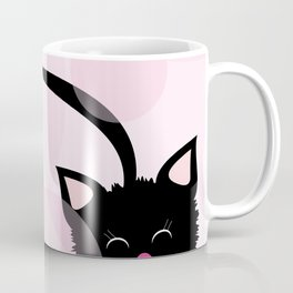 Happy Black Kitty Cat Coffee Mug