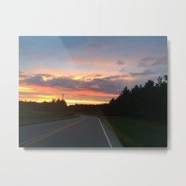 Chasing Sunsets Metal Print