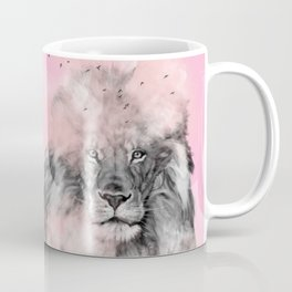 Lion in Pink Coffee Mug