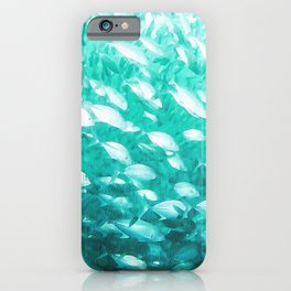 Fish in Turquoise Water iPhone Case