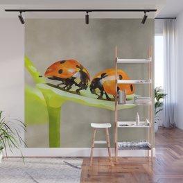 Ladybug Love   ladybird beetles   Watercolor Painting Wall Mural