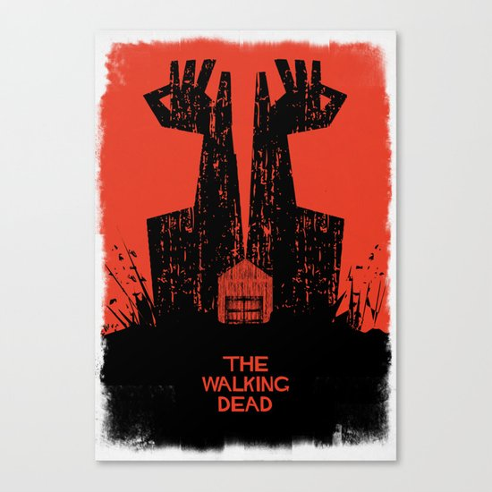 The Walking Dead. Canvas Print