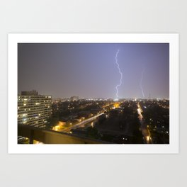 City Lightning. Art Print
