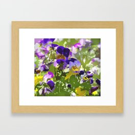 flower meadow Framed Art Print